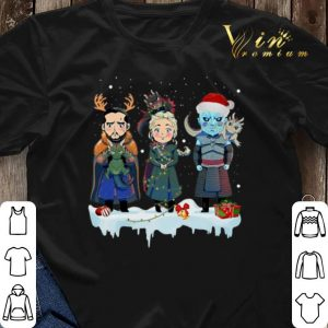 Jon Snow Daenerys Targaryen Night King chibi Christmas shirt sweater 2