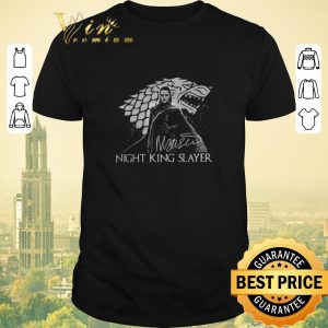 Nice Signature Arya Stark Night King Slayer shirt
