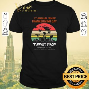 Official First Annual Wkrp Thanksgiving Day Turkey Drop Sunrise shirt sweater