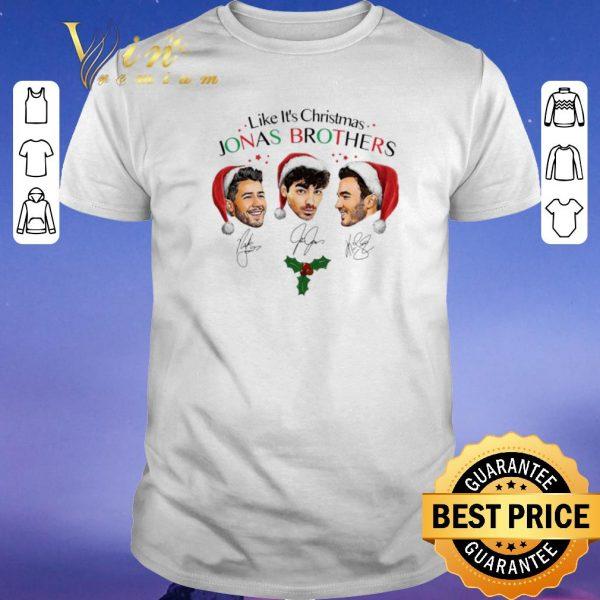 Official Signatures Like it's Christmas Jonas Brothers shirt
