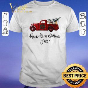 Official Truck cats meow meow Christmas y'all shirt