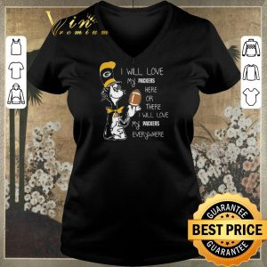 Original Dr Seuss i will love my Green Bay Packers here there everywhere shirt sweater