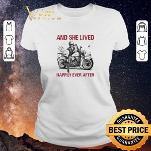 Original Girl bike And she lived happily ever after shirt sweater
