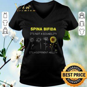 Original Sunflower Spina bifida it's not a disability it's a different ability shirt