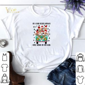 Peanuts on a dark desert highway cool wind in my hair Christmas shirt sweater
