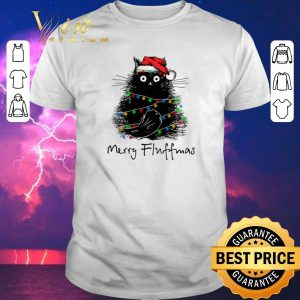 Pretty Black Cat Merry Fluffmas shirt sweater