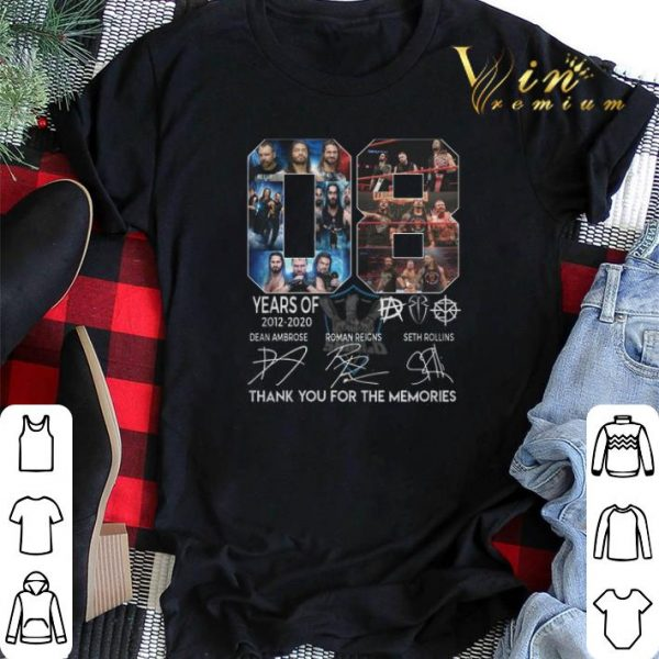 Thank you for the memories 08 years of The Shield 2012 2020 shirt
