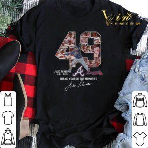 Thank you for the memories 49 Julio Teheran 2011 2019 Atlanta Braves shirt 1