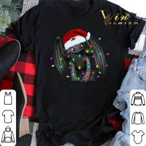 Toothless santa Christmas light shirt sweater