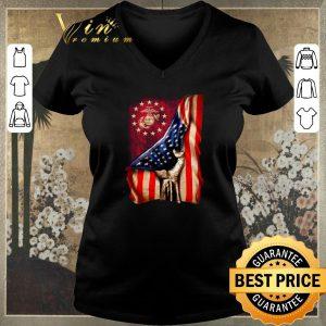Top American flag US Marine Corps shirt
