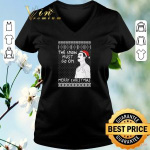 Top Freddie Mercury the show must go on Merry Christmas shirt sweater