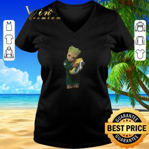 Top Green Bay Packers Baby Groot hug rugby ball shirt