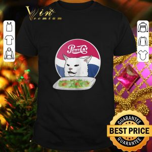 Top Petty Cat yelling woman angry cat meme dinner shirt