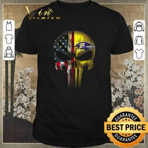 Top Punisher Skull American flag Baltimore Ravens shirt sweater