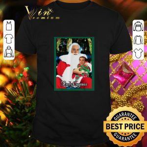Top Santa Knee Nicolas Cage Merry Cagemas Christmas shirt