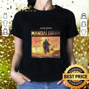 Top Star Wars the Mandalorian signatures shirt