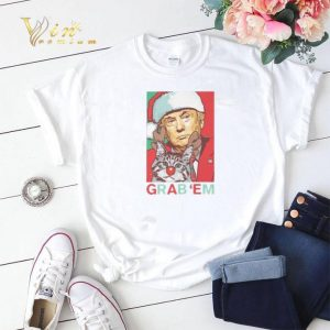 Trump cat Grab 'Em Holiday shirt sweater