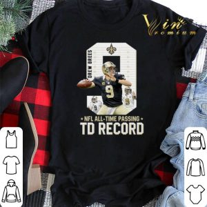 09 Drew Brees NFL all time passing to record shirt sweater
