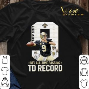 09 Drew Brees NFL all time passing to record shirt sweater 2