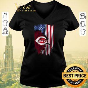 Awesome American Flag Cincinnati Reds shirt sweater