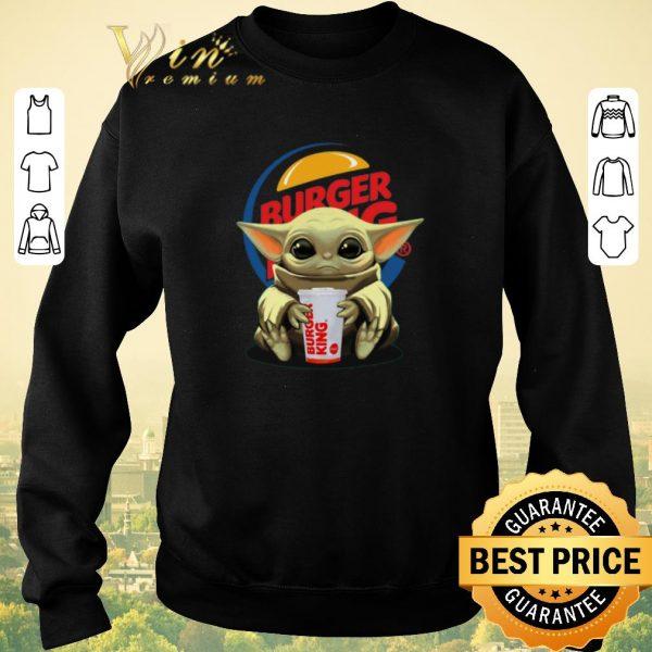 Awesome Baby Yoda Hug Burger King Star Wars shirt sweater