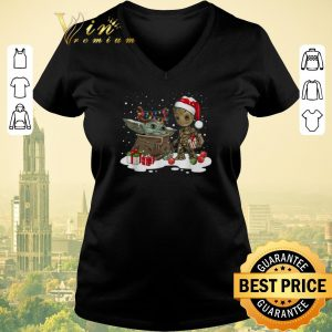 Awesome Baby Yoda reindeer and Baby Groot santa Christmas shirt sweater