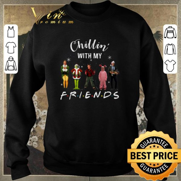 Awesome Chillin' with my Friends Grinch Elf Home Alone Characters shirt sweater