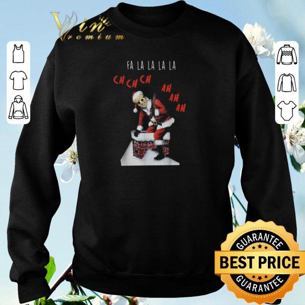 Awesome Christmas Santa Jason Voorhees Fa la la la ch ch ch ah ah ah shirt