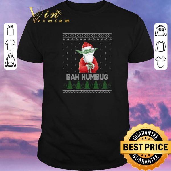 Awesome Santa Yoda Bah Humbug Ugly Christmas shirt sweater