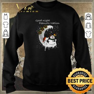 Awesome Snoopy good night Peanuts nation Christmas shirt sweater 2