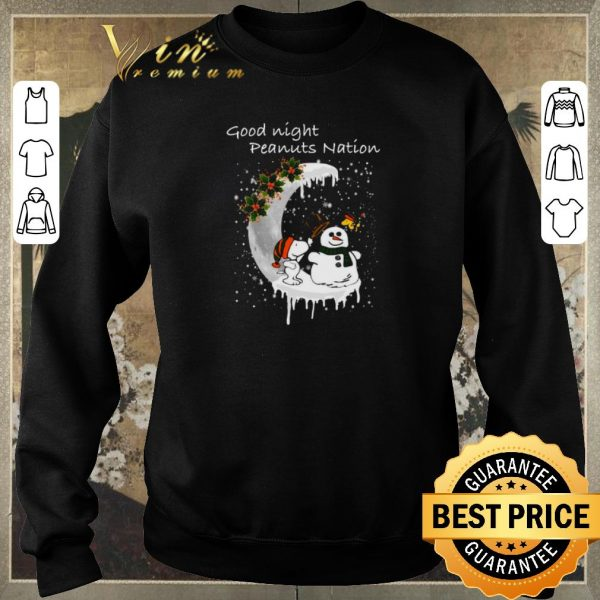 Awesome Snoopy good night Peanuts nation Christmas shirt sweater