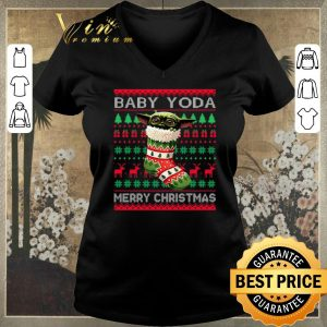 Awesome Socks Baby Yoda Merry Christmas Ugly shirt sweater 1