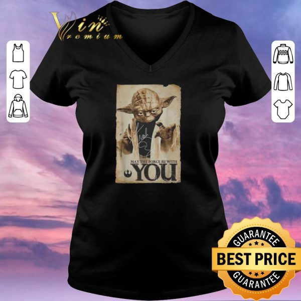 Awesome Star Wars Yoda may the force be with you signature shirt