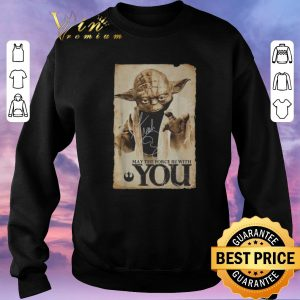 Awesome Star Wars Yoda may the force be with you signature shirt 2