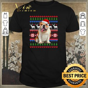 Awesome Ugly Christmas Santa English Bulldog shirt