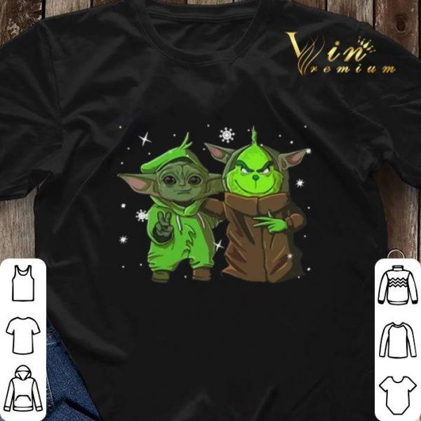 Baby Yoda and Grinch Christmas shirt sweater