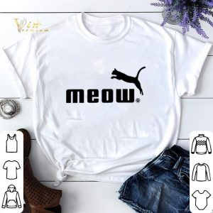 Cat meow Puma shirt sweater