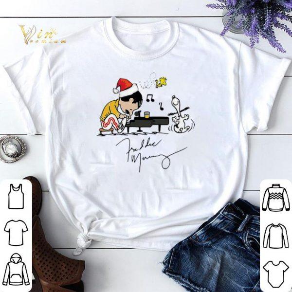 Christmas Freddie Mercury Playing Piano Snoopy Peanuts Signature shirt