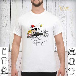 Christmas Freddie Mercury Playing Piano Snoopy Peanuts Signature shirt 2