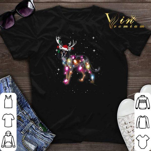 Christmas Lights Coonhound santa reindeer shirt