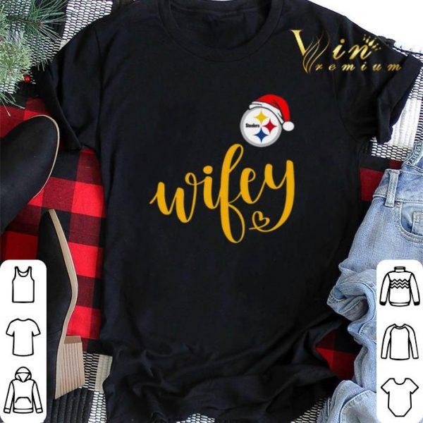 Christmas Santa Pittsburgh Steelers Wifey shirt