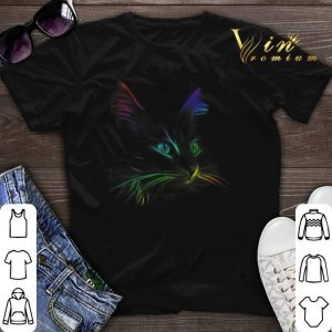 Color Cat Face LGBT shirt sweater