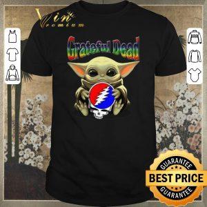 Funny Baby Yoda hug Grateful Dead Star Wars Mandalorian shirt sweater