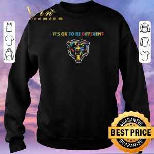 Funny Chicago Bears Autism It's OK To Be Different shirt sweater 2