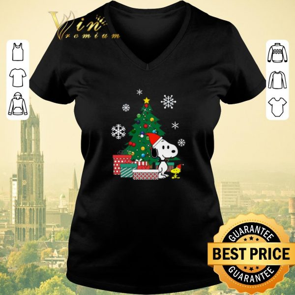 Funny Christmas tree Snoopy and Woodstock shirt