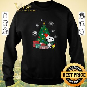 Funny Christmas tree Snoopy and Woodstock shirt 2