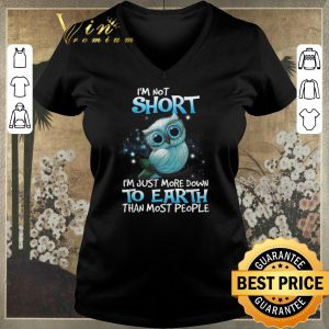 Funny Owl i'm not short i'm just more down to earth than most people shirt sweater