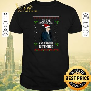 Funny Thomas Shelby on the naughty list and I regret nothing Christmas Peaky Blinders shirt sweater