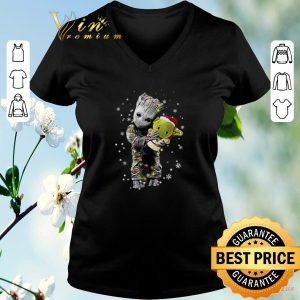 Hot Baby Groot hugging baby Yoda Christmas shirt sweater