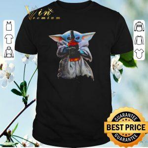 Hot Baby Yoda hug Jack Daniel Star Wars Mandalorian shirt sweater